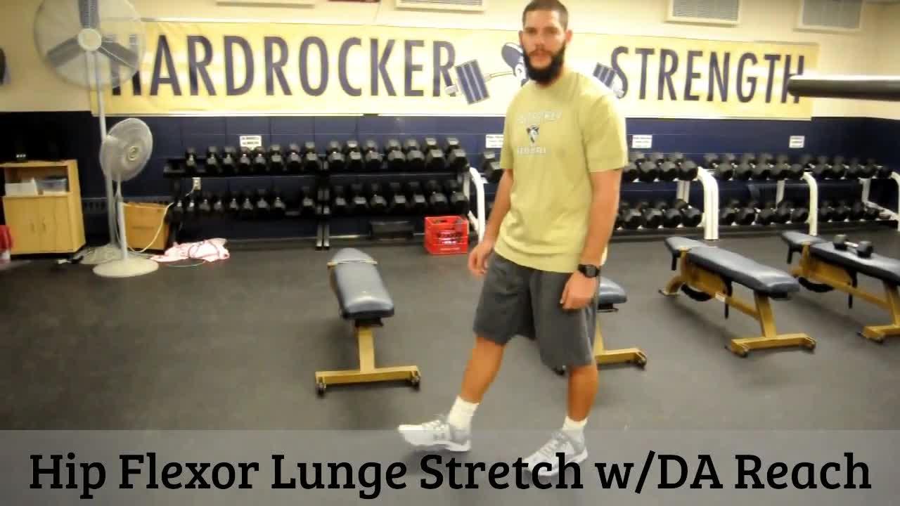Hip Flexor Lunge Stretch w/DA Reach GIFs