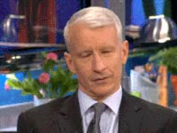 Watch and share Not Amused, Anderson Cooper, Annoyed GIFs on Gfycat