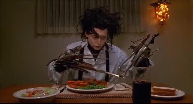 analogygifs, hifw, Edward Scissorhands - dinner scene GIFs