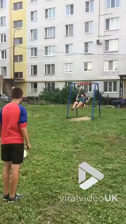 Watch What a shot! GIF by slimjones123 on Gfycat. Discover more Fails, ball, bounce, fail, football, funny, head, hit, soccer, swing GIFs on Gfycat