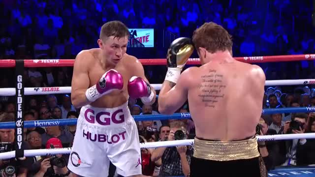Watch Canelo stuns Golovkin with a perfect left hook GIF by @stnstn on Gfycat. Discover more boxing, canelo, caneloggg2, ggg, golovkin, knockdown, knockout GIFs on Gfycat