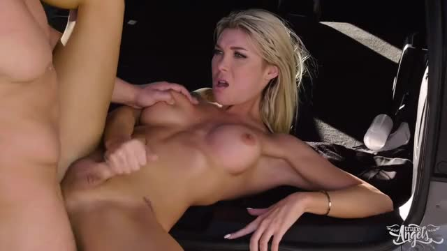 getting titties squeezed and pumping in the back of an SUV
