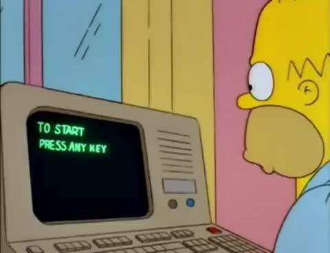 Watch and share Homero Trabajo En Casa GIFs on Gfycat