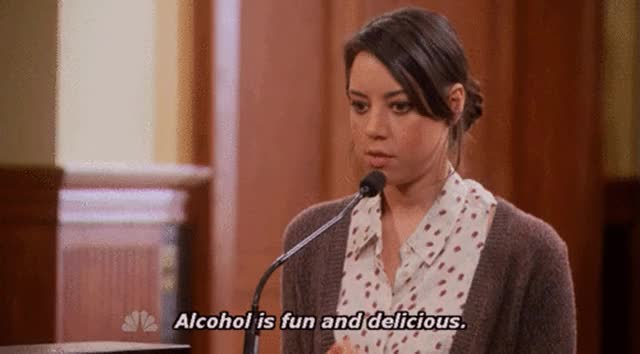 Watch this alcohol GIF on Gfycat. Discover more alcohol, parks and rec, parks and recreation GIFs on Gfycat