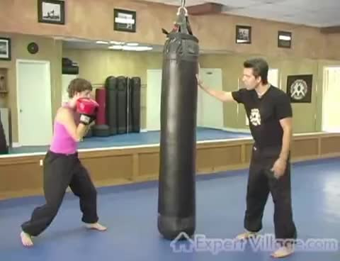Kickboxing Exercises : Fitness Kickboxing Demonstration GIFs