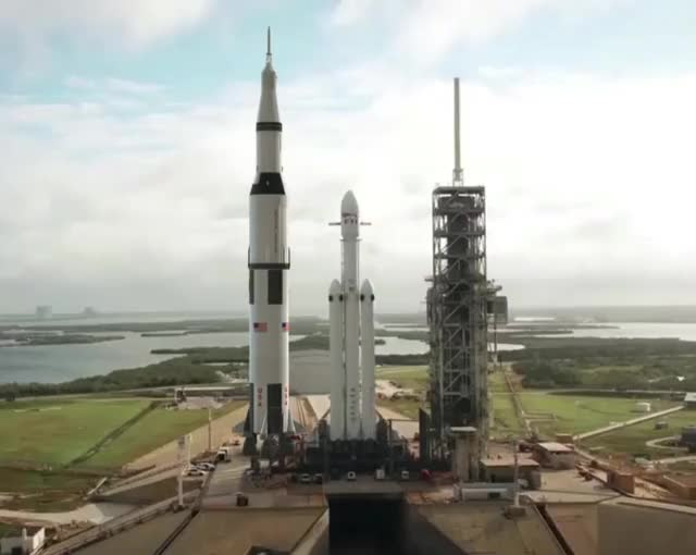 Watch Falcon Heavy vs Saturn V GIF on Gfycat. Discover more related GIFs on Gfycat