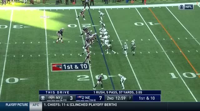 Watch and share 8 Brady To Burkhead 18yd TD GIFs on Gfycat