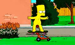 Watch and share Bart Simpson Skateboarding Nak GIFs on Gfycat