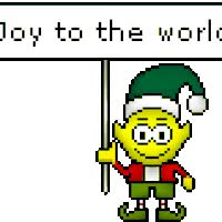 Watch and share Joy To The World Elf Smiley animated stickers on Gfycat