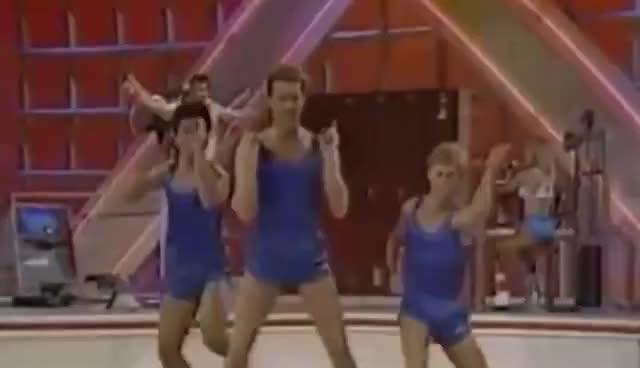 Watch aerobics champion GIF on Gfycat. Discover more 80s, aerobics, dance, funny, greg corelli GIFs on Gfycat