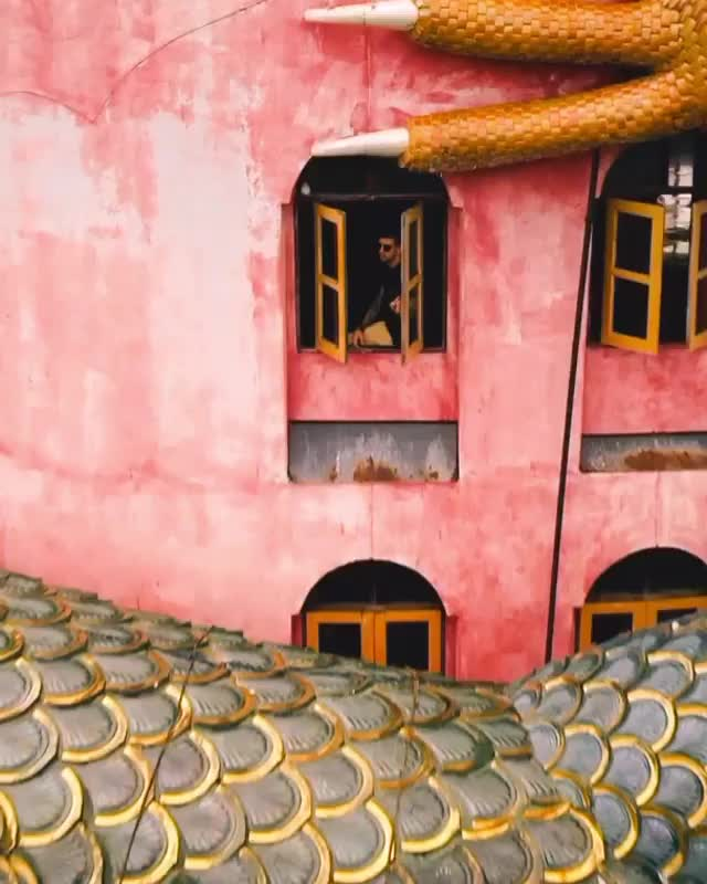 Watch and share The Samphran District Of Thailand Holds One Of The Most Unique Buddhist Temples Found In The Country. The Bright Pink Temple, Called Wat Sam GIFs by GIFs For Everything on Gfycat