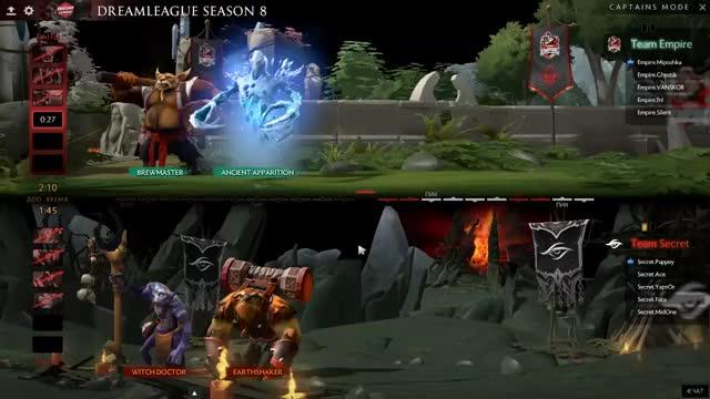 Team Secret vs Team Empire, DreamLeague S8