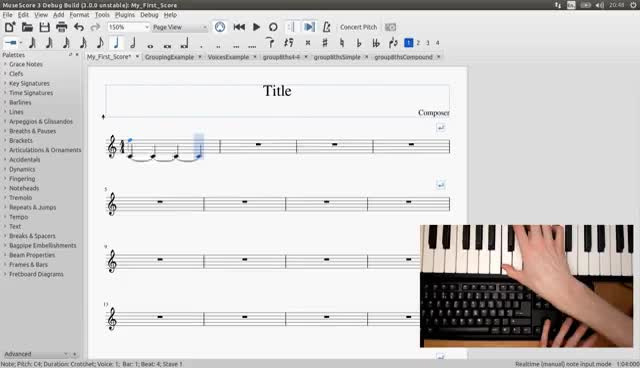 GSoC with MuseScore - Semi-Realtime MIDI Demo Part 1: New note entry
