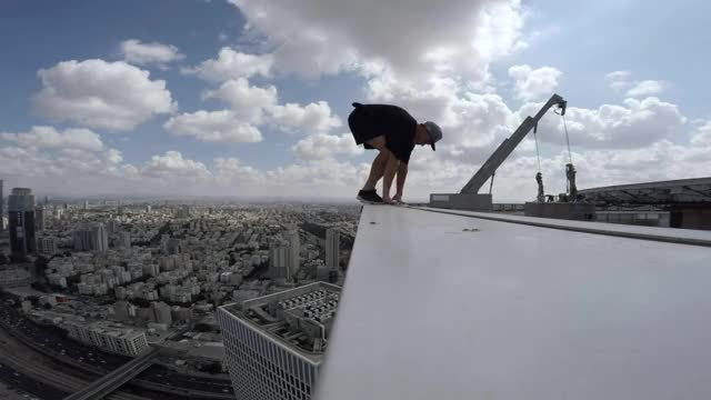 Watch GoPro: Skyscraper Handstand in Tel Aviv with Jason Paul GIF by @billionaireboy on Gfycat. Discover more SweatyPalms, gopro, hero3 GIFs on Gfycat