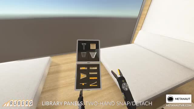 Watch Ruberg Library Panels - Two Hand Detach GIF by metanaut (@metanaut) on Gfycat. Discover more game, ruberg, ui, virtual reality GIFs on Gfycat