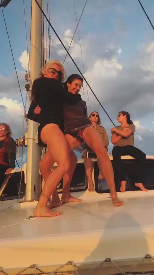 Celebs, NinaDobrev, Nina Dobrev dancing bikini 1 GIFs