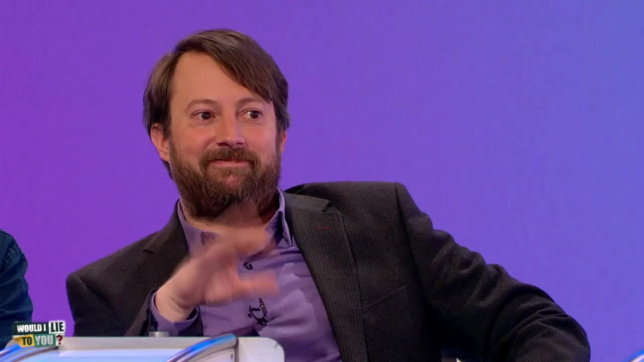 hello, hi, wave, до свидания, до скорого, пока, привет, Barbigerous Harbinger of Exuberance - David Mitchell on Would I Lie to You? [HD] GIFs