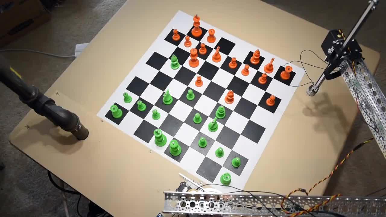 Python, acotobotics, chess, dynamixel, robot, scikit-learn, tensorflow, Chess Playing Robot Powered by Raspberry Pi - Raspberry Turk GIFs