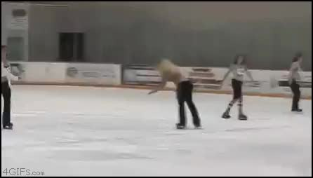Watch and share Funny Fail Ice Skating CE CE GIFs on Gfycat