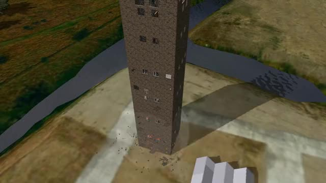 Detonate 1 2 Tower Collapse GIF by (@dronester) | Find, Make
