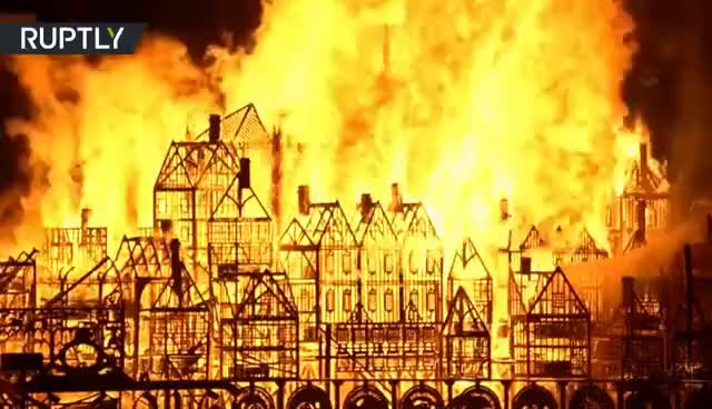 Watch and share London's Burning! Great Fire Of 1666 Commemorated On 350th Anniversary GIFs on Gfycat