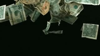 Watch and share Falling Dollar Bills GIFs on Gfycat