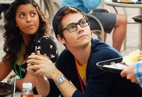 Watch stiles GIF on Gfycat. Discover more actor, blink, dylan o'brien, famous, gif, glasses, high school, hoodie, hot, lunch, seduce, set, sexy, teen wolf, wink, wow GIFs on Gfycat