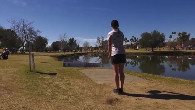 Watch Round Four 2019 Memorial Championship - Paige Pierce hole 18 drive GIF by Benn Wineka UWDG (@bennwineka) on Gfycat. Discover more Sports, dgpt, disc golf, disc golf pro tour GIFs on Gfycat