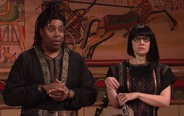 Watch this curated GIF by GIF Queen (@ioanna) on Gfycat. Discover more cleopatra, dumb, funny, god, hilarious, kate, live, lol, mckinnon, my, night, oh, omg, saturday, shock, silly, snl, surprised, tada, wow GIFs on Gfycat