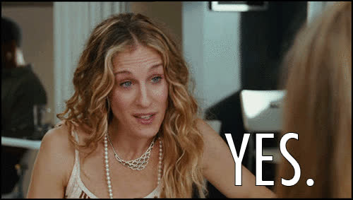 sarah jessica parker, sex and the city, yes,  GIFs
