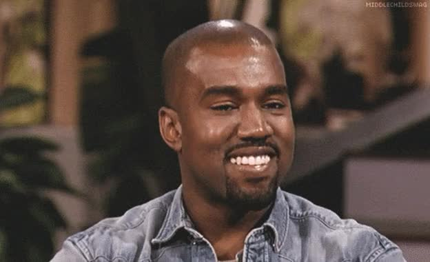 Watch and share Kanye West GIFs and Smiling GIFs by Reactions on Gfycat