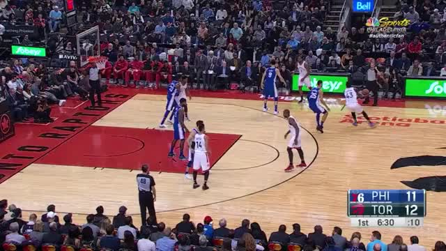 Watch Distance hook GIF by @louiszatzman on Gfycat. Discover more Philadelphia 76ers, Toronto Raptors, basketball GIFs on Gfycat
