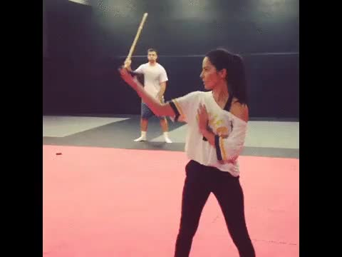 Watch this olivia munn GIF on Gfycat. Discover more olivia munn, sword, swords GIFs on Gfycat