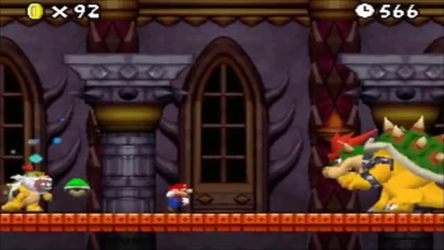 New Super Mario Bros  DS - Final Castle, Final Boss & Ending (Small Mario)