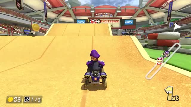 Watch and share Mario Kart 8 Deluxe GIFs and Waluigi Jump Tricks GIFs by Mr. Panda on Gfycat