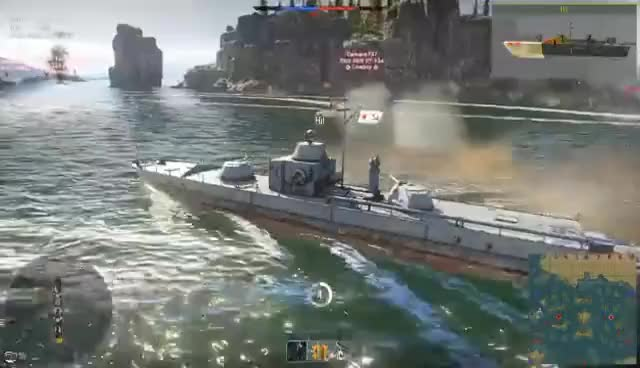 Watch and share T-34 ON A BOAT - Pr 1124 Russian Boat (War Thunder Naval Forces Gameplay) GIFs on Gfycat