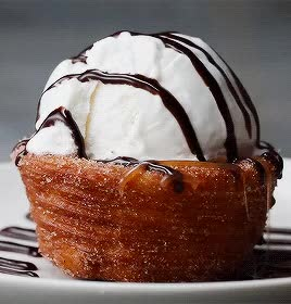 Watch Churro Ice Cream Bowl GIF on Gfycat. Discover more related GIFs on Gfycat
