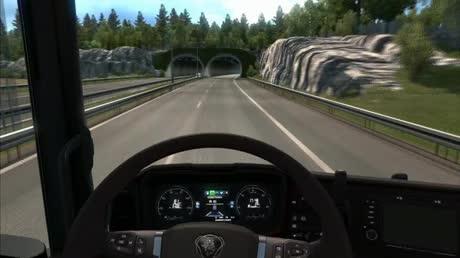 ets, euro truck, euro truck simulator, meme, skyrim, wtf, Quando você esquece de acender os faróis em Euro Truck Simulator GIFs