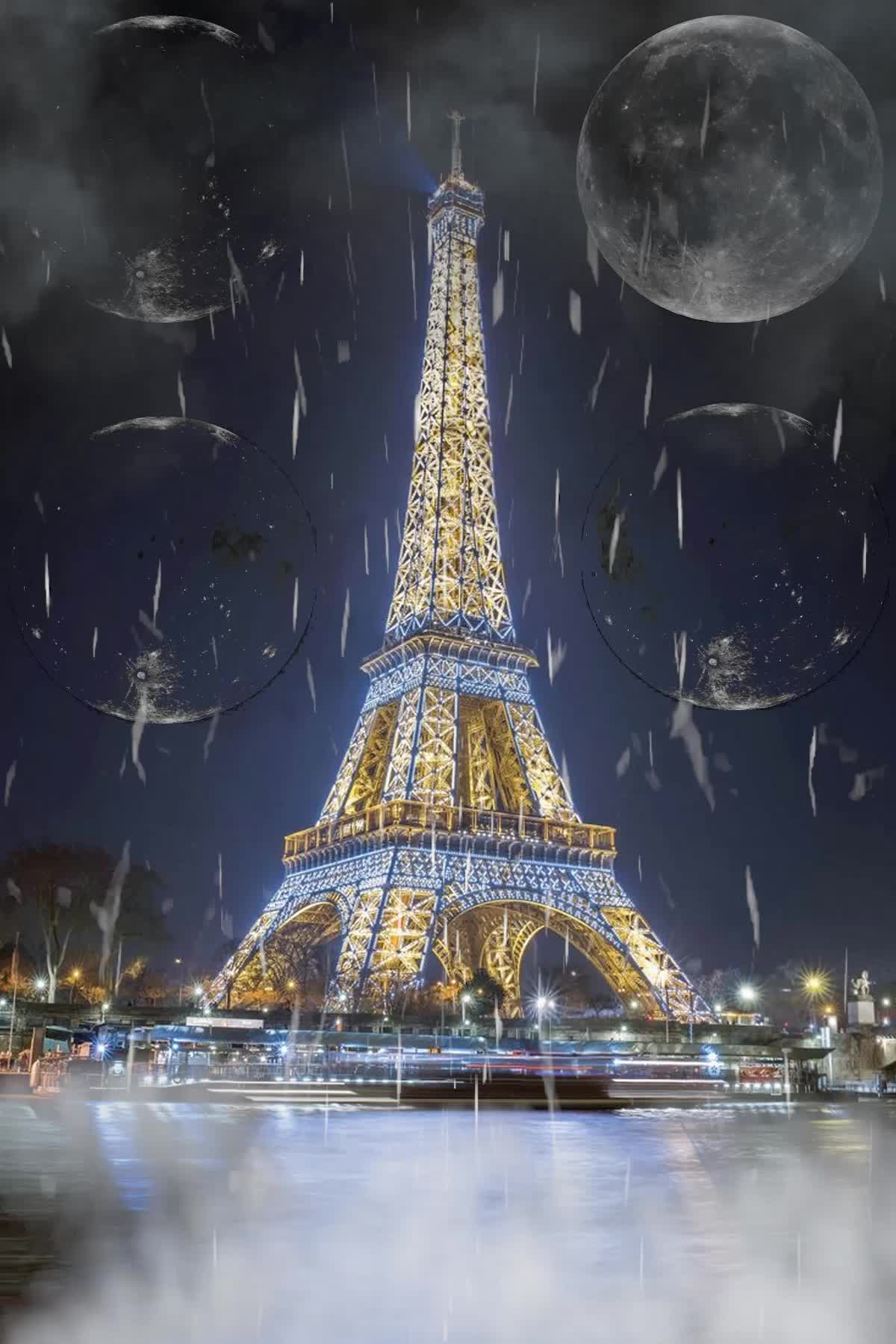 animation, audio, birds, crazy, france, insanewayne, lightning, paris, rain, raining, storm, the eiffel tower, weather, weird, The Eiffel Tower [Audio] GIFs