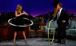 Watch my husband's an actor GIF on Gfycat. Discover more Connie Britton, I had to okay., James Corden, at hula hooping and we didnt believe her ahahaaaa oops, hula hoop, mine, remember when emma and i read that interview where she claimed to be really good, the late late show GIFs on Gfycat