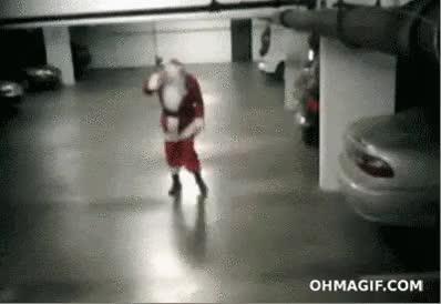 Santa got into the eggnog : WastedGifs GIFs