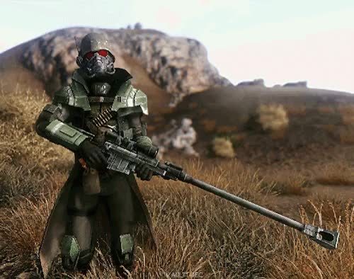 Watch and share Anti Material Rifle GIFs and Fallout New Vegas GIFs on Gfycat