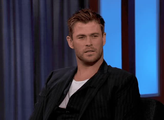 Watch this chris hemsworth GIF by GIF Queen (@ioanna) on Gfycat. Discover more brain, chris, chris hemsworth, hammer, hemsworth, hunk, jimmy, kimmel, mind, much, sexy, smart, smarter, think, thor GIFs on Gfycat