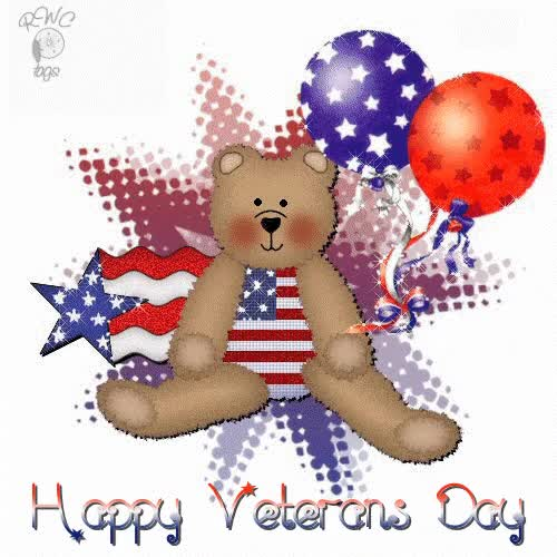 Watch and share Veterans Day Teddy With Balloons GIFs on Gfycat