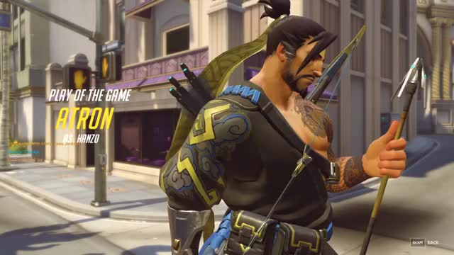 Watch and share Overwatch GIFs and Hanzo GIFs by atron on Gfycat