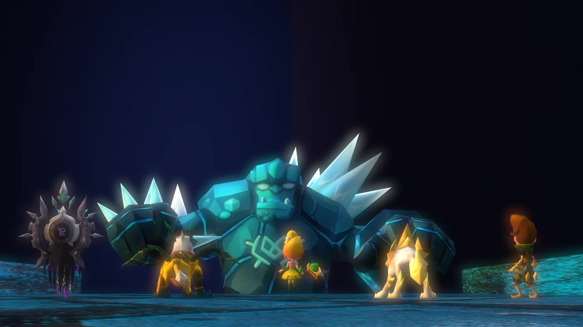 CG, summonerswar, Giant's Reaction [Summoners War 3D Render] GIFs