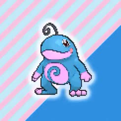 Watch       bubble gum  GIF on Gfycat. Discover more game, gif, mine, photoset, pokegraphic, pokemon, politoed, porygon z, slowking, snubbull GIFs on Gfycat