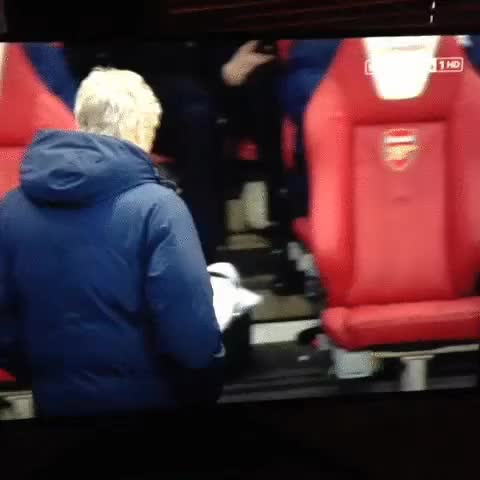 Watch and share Lord Bendtner Playing With Himself On The Bench GIFs on Gfycat