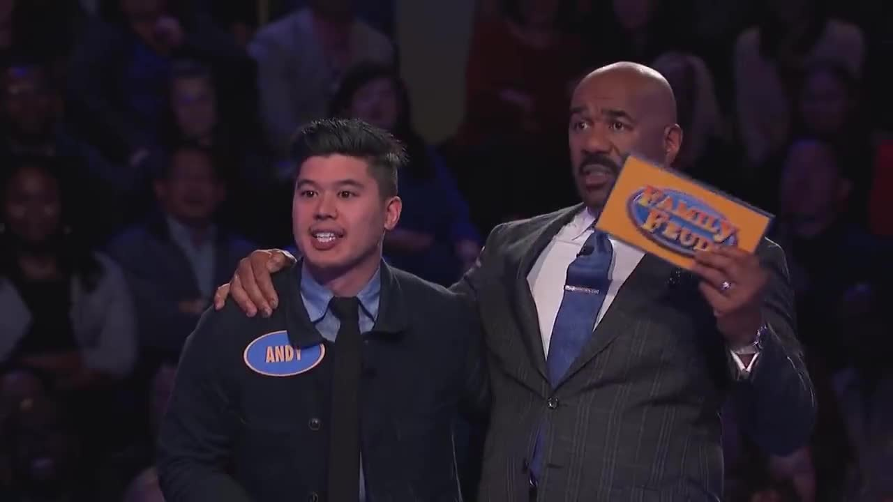 Game, Money, Prize, audition, auditions, bloopers, funny, gameshow, tv, win, winning, 32 points needed! Only 2 answers left! | Family Feud GIFs
