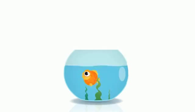 Watch and share Goldfish In A Bowl Animation GIFs on Gfycat